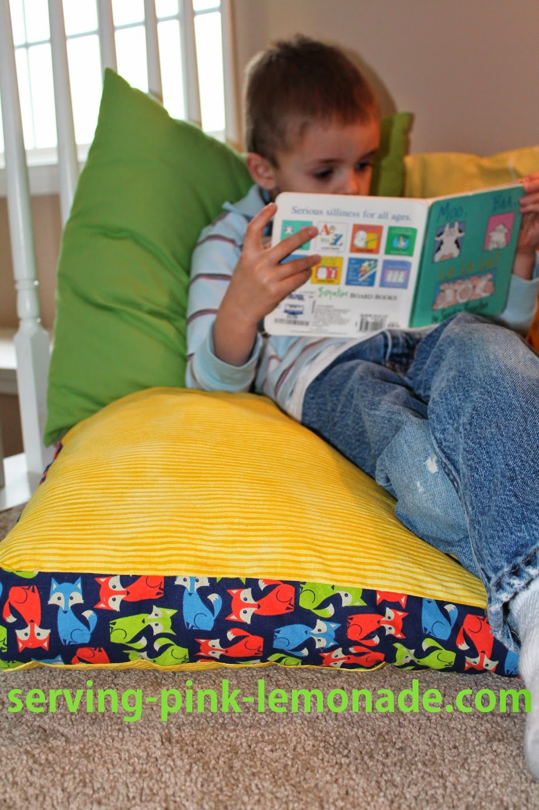 Reading Nook Floor Pillows Serving Pink Lemonade Reviewing 2014