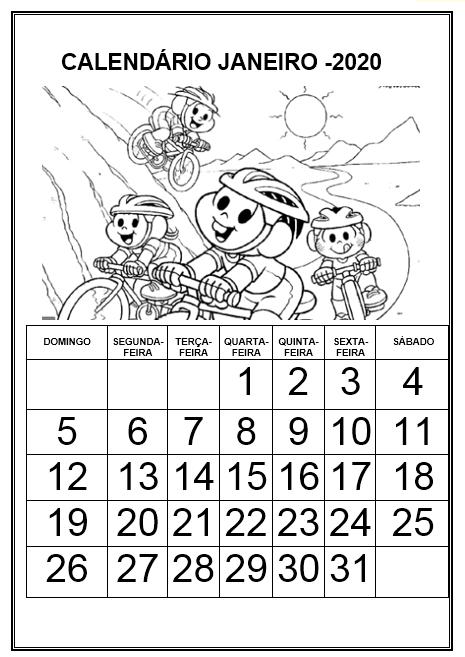 Profª Ivani Ferreira Calendario 2020 Para Imprimir E Colorir