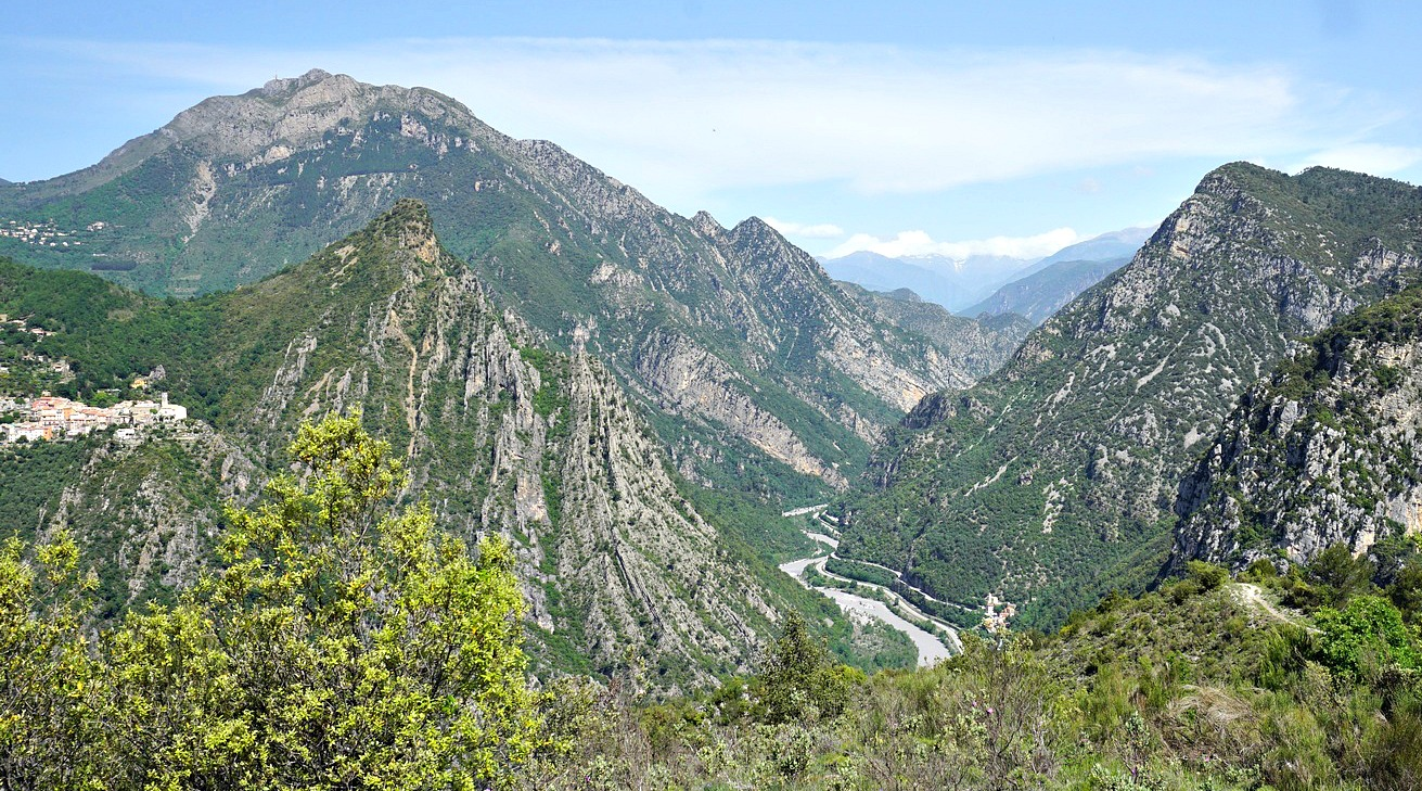 Var River Valley and Mont Vial