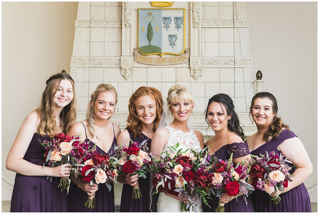 photo of bride and bridesmaids
