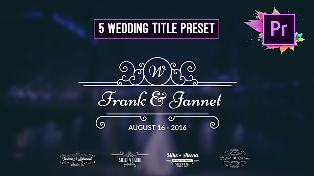 Premiere Pro Motion Graphic Template |  Animated Wedding Title Preset FREE DOWNLOAD