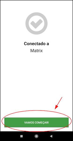 Aplicativo mobile Unified Remote em execução conectado ao servidor Unified Remote