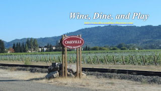 The City of Oakville in Napa California for a tasting