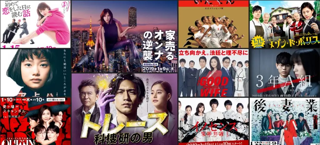 index of Japanese Tv series