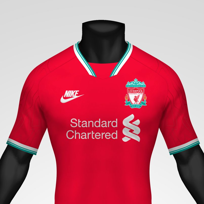 detailed look 3234b f2fe7 1990s-Inspired Nike Liverpool 20-21 Concept Home Kit By ...