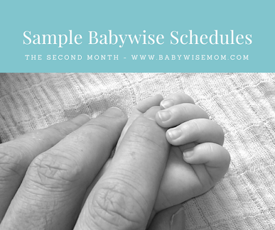 12 Sample Babywise schedules for a 1 month old that were actually used by Babywise moms.
