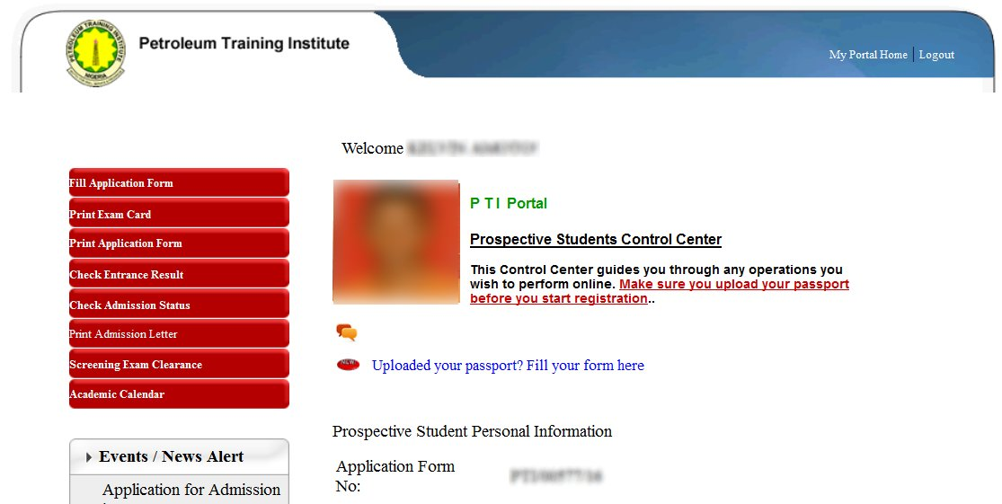 How to check your pti result print out admission letter 2016 pti application page 1b to check result altavistaventures Images