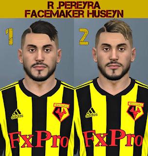 PES 2017 Faces Roberto Pereyra by Huseyn