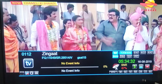 Zingaat on DD Freedish, Zingaat TV Frequency, Zingaat on Doordarshan