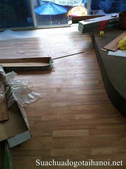 Sửa chữa sàn gỗ tại nhà Hà Nội