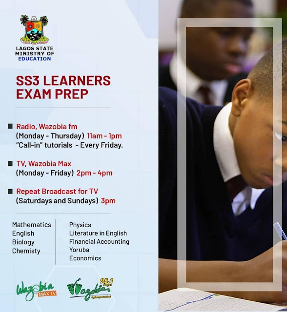 Lagos State Daily Lesson & Exam Prep for SS3 Students | Radio & TV