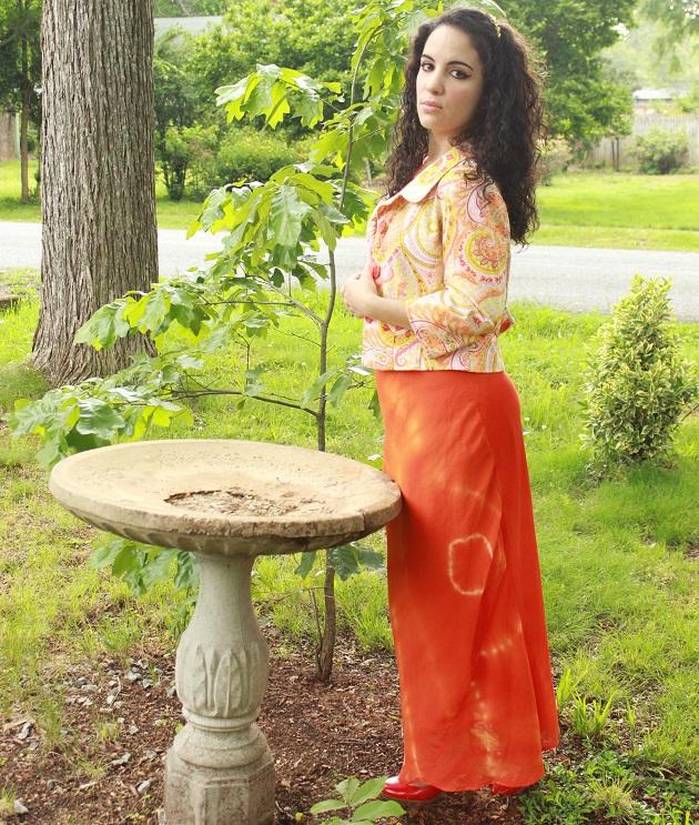 Orange Tie Dye Dress