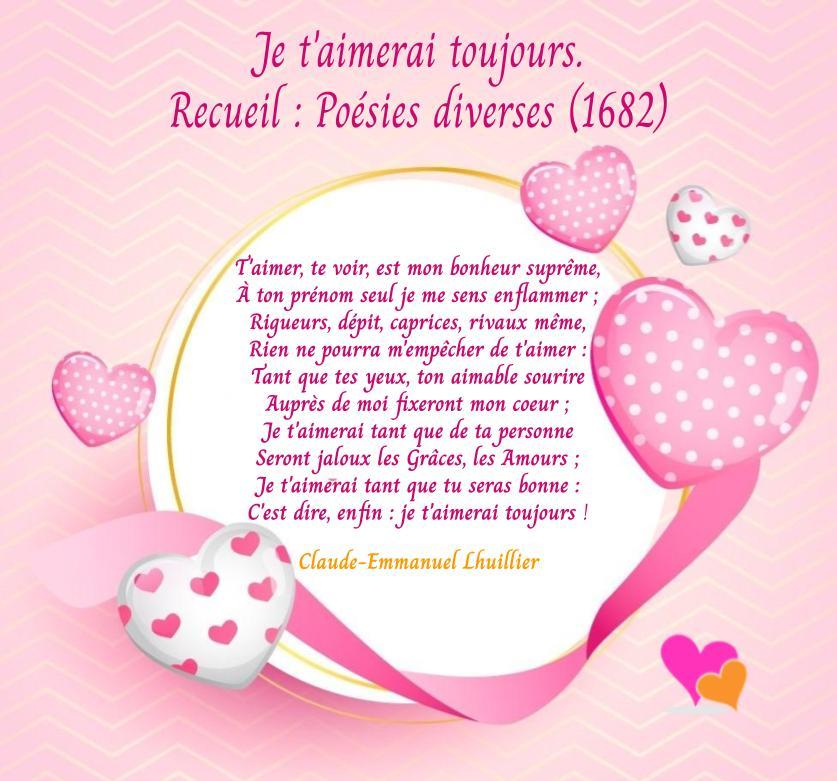 Je t'aimerai toujours mon amour, poème de Claude-Emmanuel Lhuillier