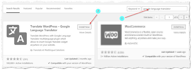 Add Google Language Translator in WordPress