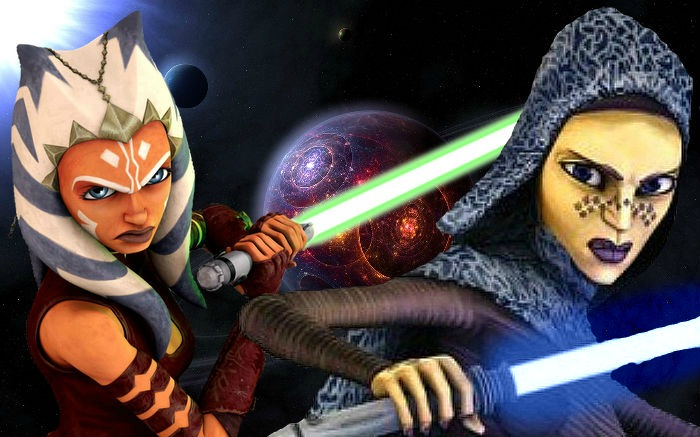 Ahsoka tano and barriss offee kiss