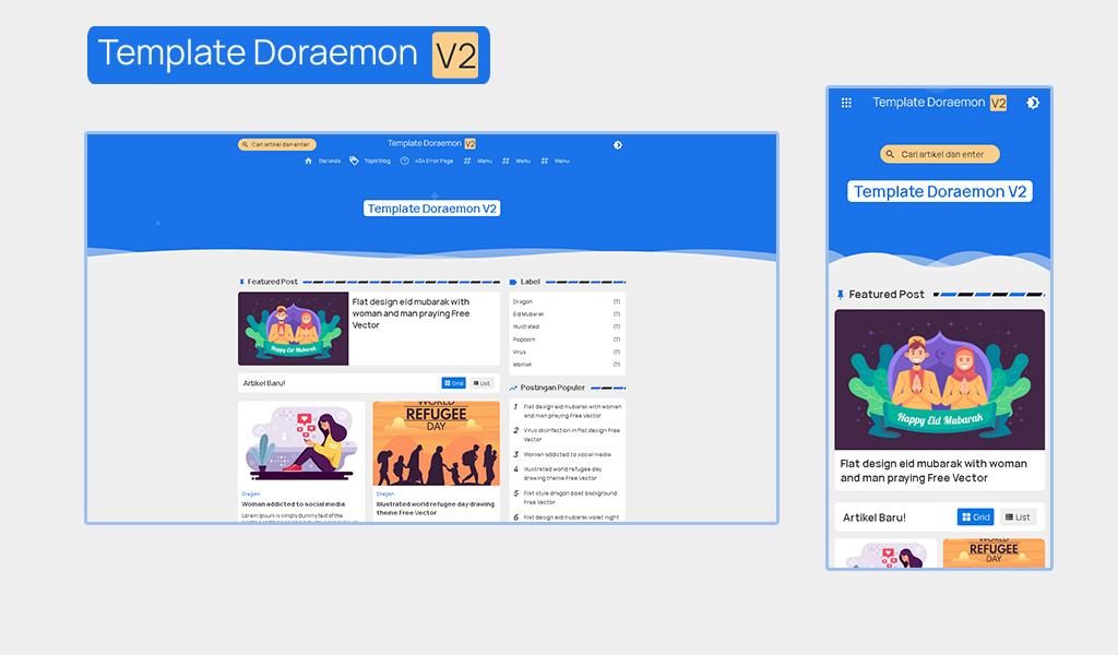 Download Doraemon V2 Modern Blogger Template