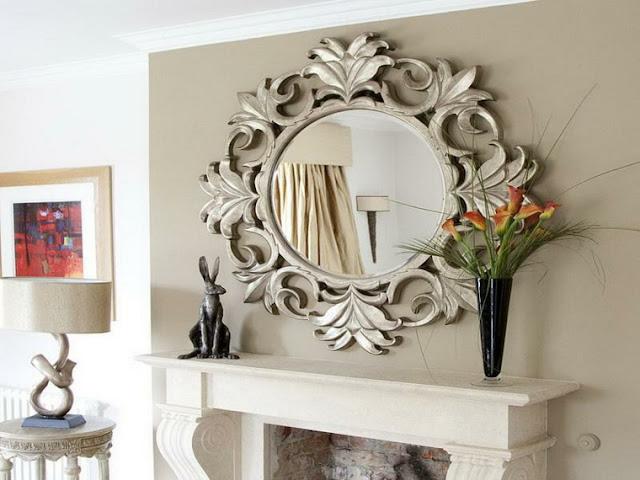 Livingroom wall mirror decor