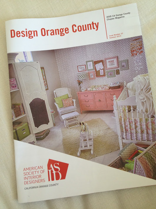 On the Cover of the ASID Orange County Chapter Magazine!