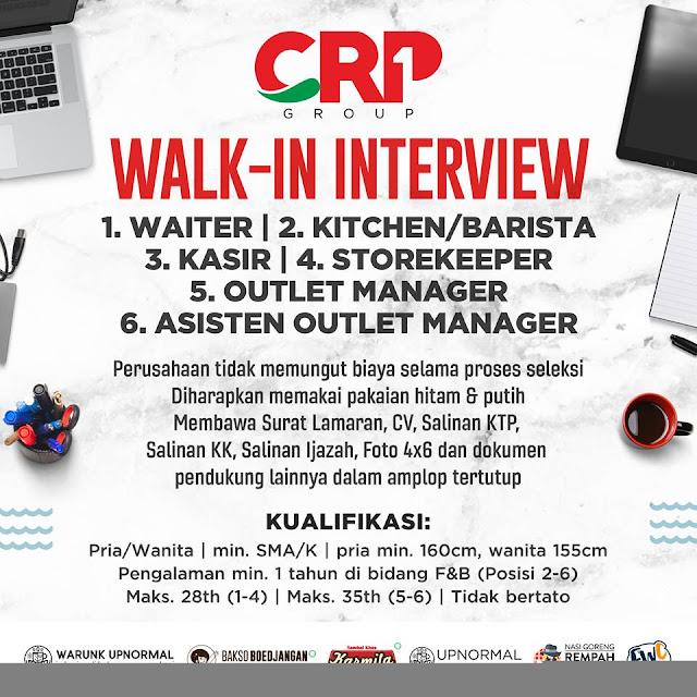 Lowongan kerja CRP GROUP Bandung