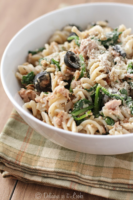 Tuna Pasta Toss {Low-FODMAP, Gluten-Free}  /  Delicious as it Looks
