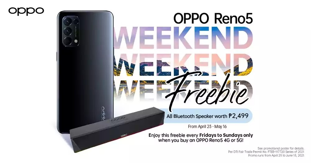 OPPO Reno5 Series Weekend Freebies Promo