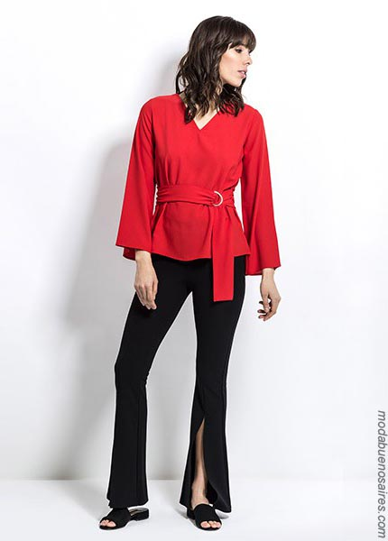 Blusas y pantalones moda primavera verano 2019. Moda mujer ropa 2019.