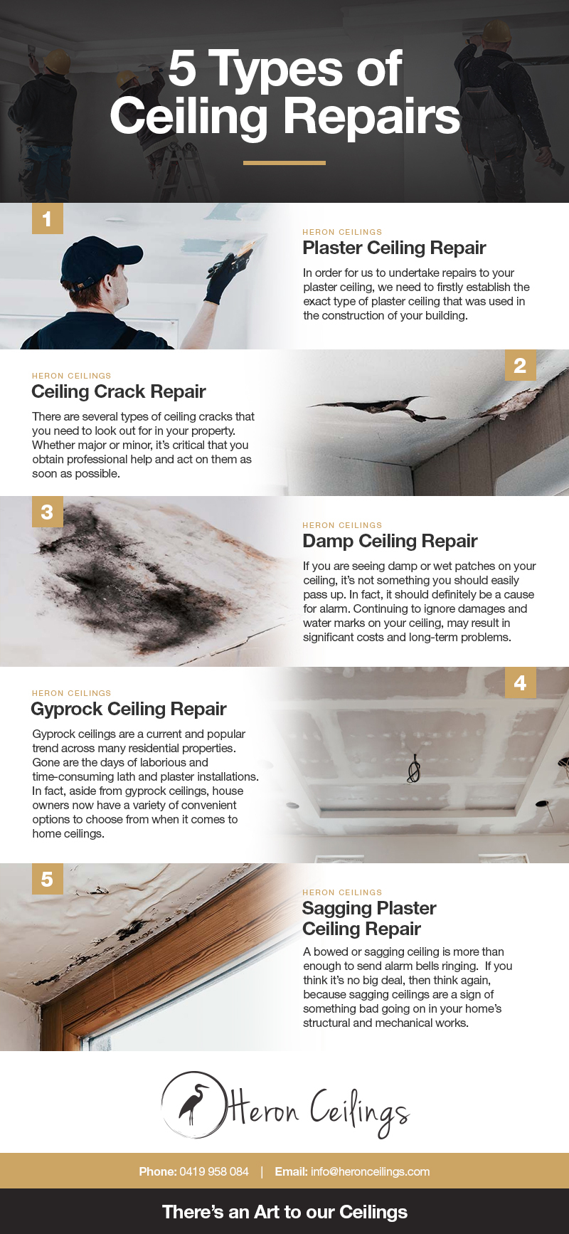 5 Types Of Ceiling Repairs #Infographic