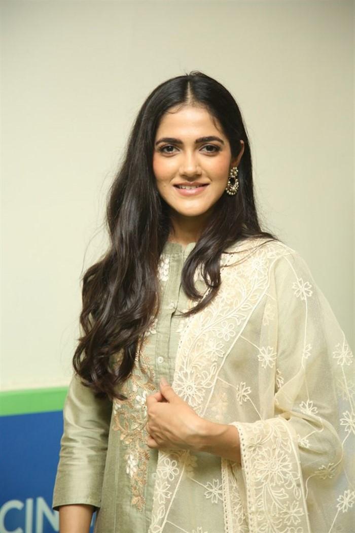 Indian Model Simran Chowdary in Sandal Color Churidar Dress at Sehari Movie Launch Function (11)