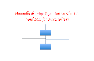 Drawing Organization Structure in Microsoft Word 2011 for MacBook Pro Version 10.5.8   Organization Structure Chart