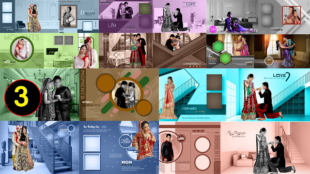 PART 3 New Latest PSD Indian Wedding Album Design 12x36 Sheets Download 2021