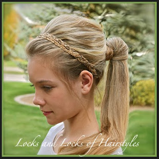 Braided Headband Pony