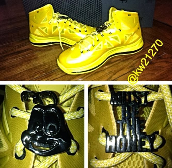 b5dc633e742a Here is new images via kw21270 on IG of the Nike Lebron 10 Buzz The Bee  Sneaker from cheerios . Peep more images after the jump.