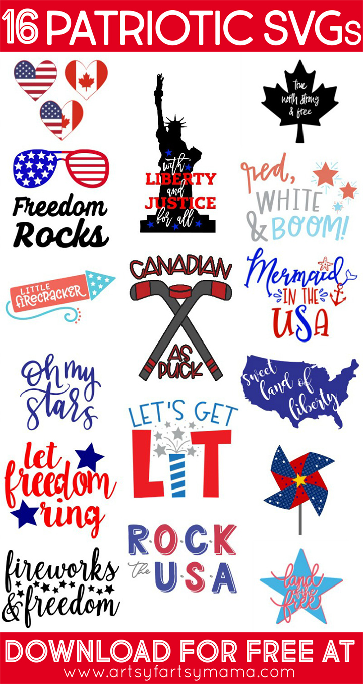 16 Free Patriotic Cut Files