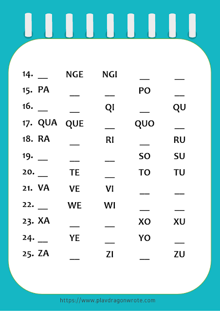 Missing Phonetics in Big Letters Exercises Picture