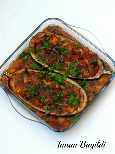Imam Bayildi, Turkish Stuffed Eggplants