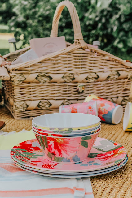 Joules Garden Melamine Picnic Bowls