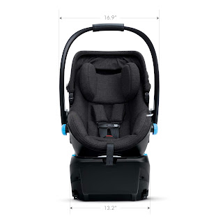 Clek Liing car seat specifications, front view