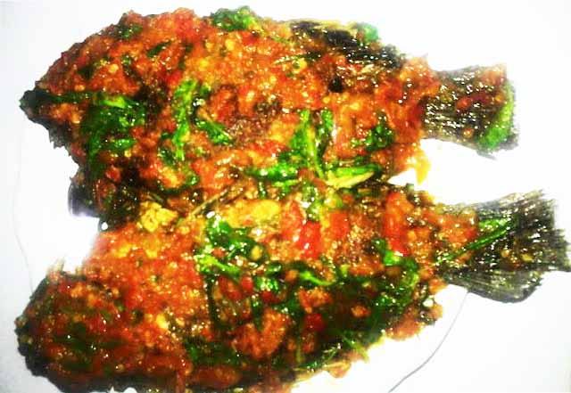 Ikan Mujair Sambal Kemangi