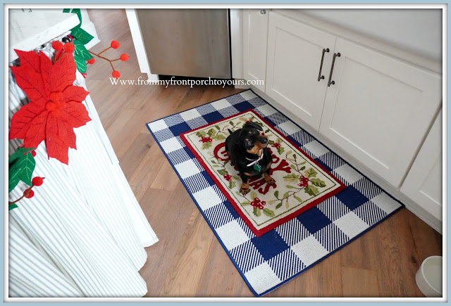 Cottage- Farmhouse -Christmas- Kitchen- Tour-Vinatge-Mini-Doxie-From My Front Porch To Yours