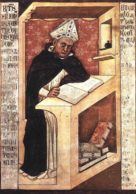 Santo Alberto Magno. Ciclo de 40 ilustrações de membros da Ordem Dominicana, Tommaso da Modena (1326 -1379), Treviso, Veneto, século XIV