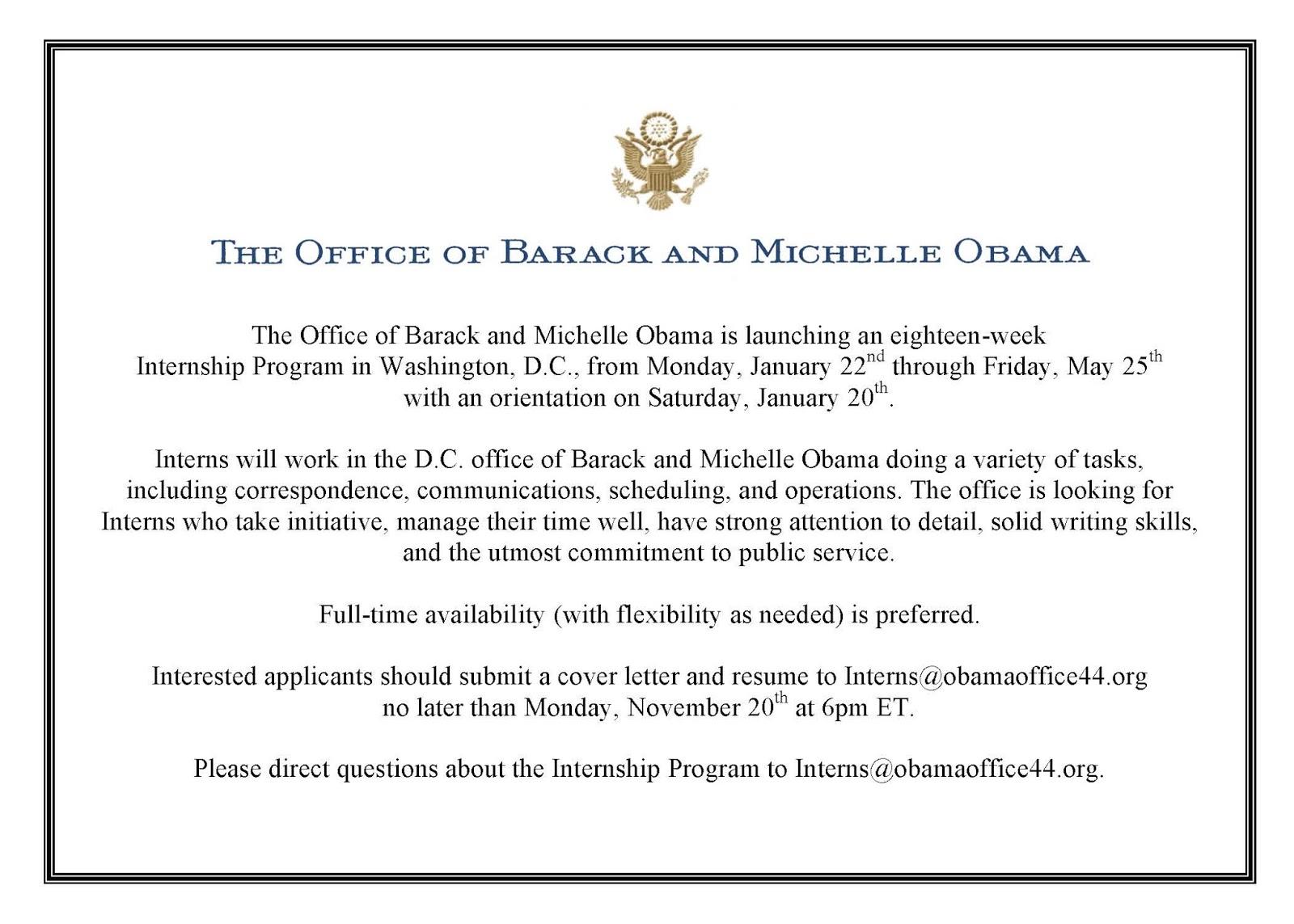 bsos undergraduates blog office of barack and michelle obama