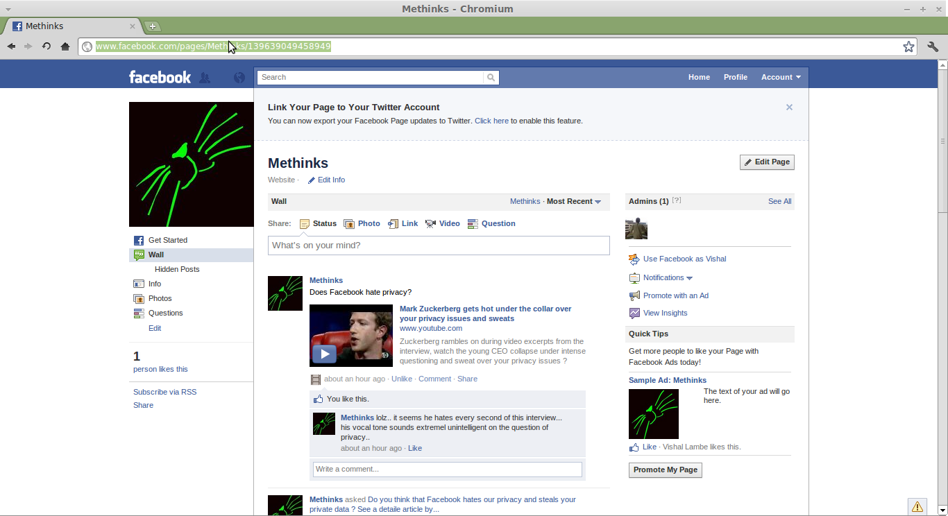 Vishal Lambe's Blog: How to: Add a Facbook like box on your blogspot
