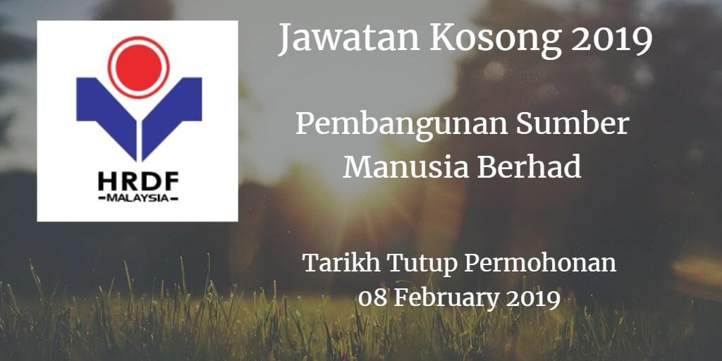 Jawatan Kosong HRDF 08 February 2019