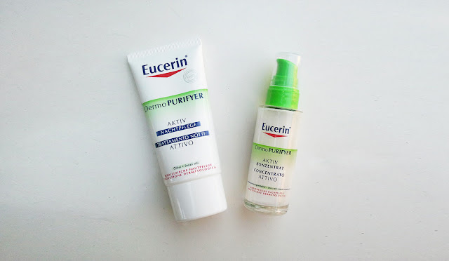 eucerin dermopurifyer night cream and active concentrate review
