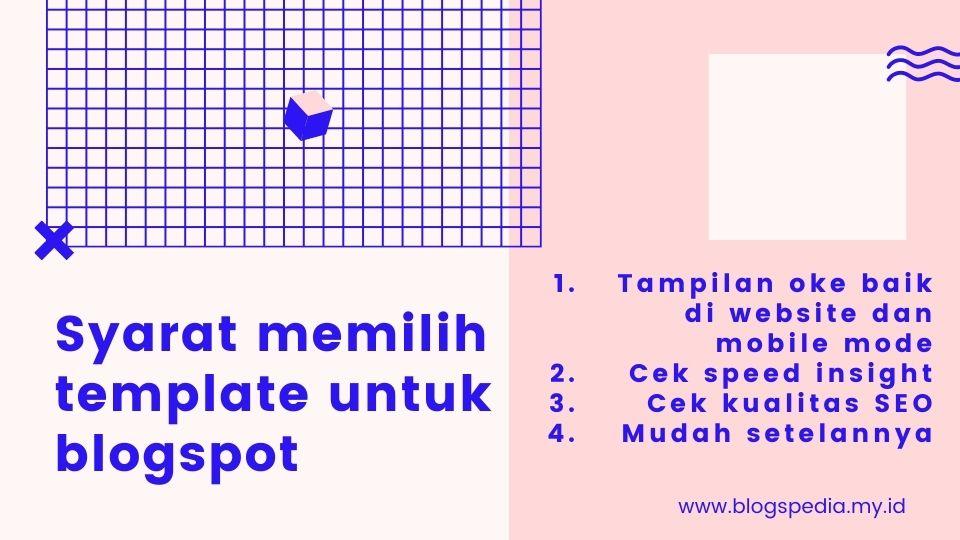 tips memilih template blogspot