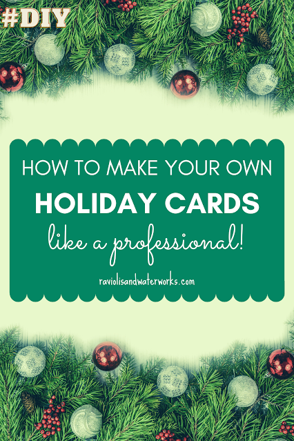 holiday cards at home