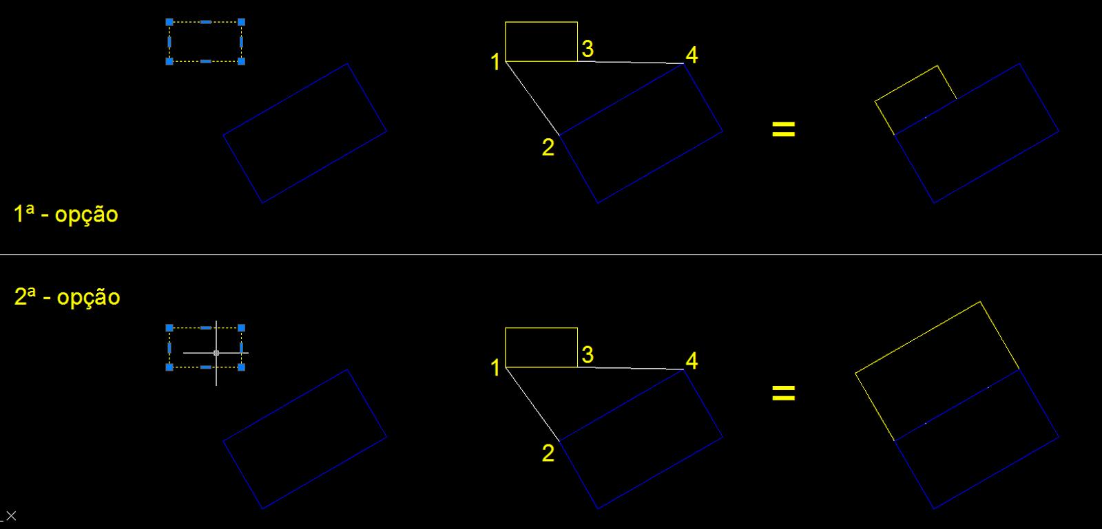 Como deixar dois objetos alinhados e com o mesmo tamanho no AutoCAD