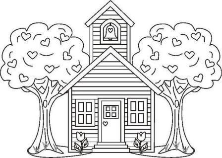 Desenhos de Casa na Árvore para Colorir