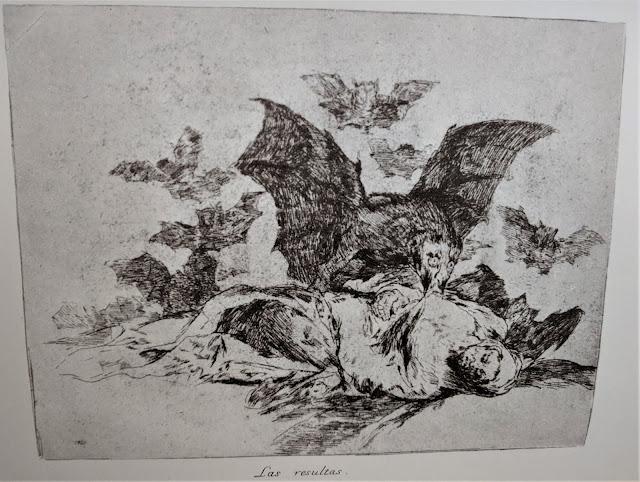 Goya's etching: Las resultas