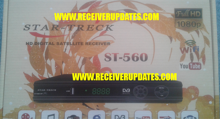 STAR TRECK ST-560 HD RECEIVER NEW SOFTWARE TEN SPORTS OK - Receiver